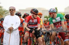 #TOO2017 Ben Hermans of Belgium (C) speaks with Alexander Kristoff of Norway (R) at the start of stage three of the 8th Tour of Oman, a road stage from Sultan Qaboos University to Quriyat on February 16, 2017 in Muscat, Oman.