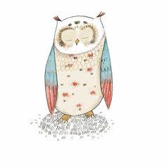'Wise Owl' by Kristyna Litten