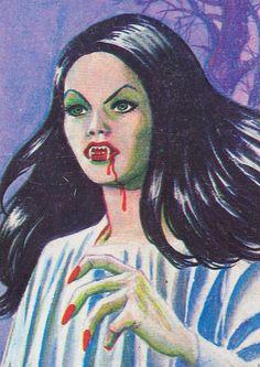 ☆ Monstrous Trading Cards: Carmilla ChloeLikesCrumpets You saved to Satanic Kitsch 186 Arte Horror, Horror Art, Vampires, Art Pictures, Art Images, Carmilla, Horror Comics, Vintage Horror, Pulp Art