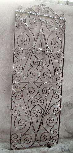 Wrought Iron Decor, Wrought Iron Gates, Decorative Metal Screen, Metal Worx, Alien Plants, Window Grill Design, Blacksmith Projects, Rustic Wall Art, Metal Projects