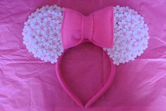 Minnie Mouse White Daisy Ears by CrazyBeautifulCreati on Etsy, $18.00