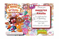 Moshi Monsters Party Printables Kids Children by pickandparty