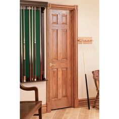 House of Fara 3/4 in. x 3 in. x 7 ft. Oak Door Trim Casing Set