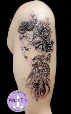 Tatuaggio sirena, marmaid tattoo, princess Toyotamabime tattoo, toyiotama-hime tattoo, - microtattoo, tatuaggio miniatura, tratto fine, fine line tattoo, microtatuaggio, miniature tattoo - Adam Raia - Violet Fire Tattoo & Piercing - tatuaggio animale, tatuaggio animali, tatuaggio medusa, jellyfish tattoo, tatuaggio luna piena, moon tattoo, tatuaggio stelle, tatuaggio pianeti, tatuaggio conchiglia, shell tattoo - tatuaggi maranello, tatuaggi modena, tatuaggi sassuolo, tatuaggi fiorano…