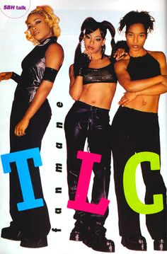 I'm being Lisa Left Eye Lopes from the group TLC for blast from the past day at my school. I need ideas on what to wear. Black 90s Fashion, Hip Hop Fashion, New Jack Swing, Tlc Group, Girl Group, Tlc Costume, Costume Ideas, Halloween Costumes, Aaliyah