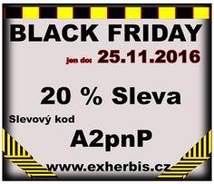 ExHerbis: Black Friday na www.exherbis.cz