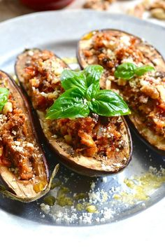 Italian Eggplant with Walnut Stuffing http://ciaochowbambina.com