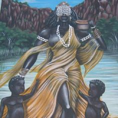 Ochun, in the Yoruba religion, is an Orisha who reigns over love, intimacy… African Mythology, African Goddess, Black Love Art, My Black Is Beautiful, African American Art, African Art, Oshun Goddess, Orishas Yoruba, Yoruba Religion
