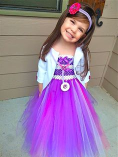 Doc McStuffins Tutu Dress with Coat and accessories for Birthday parties, portraits, dress up or just because its her favorite cartoon!  Designed and created by www.BlissyCouture.com  :)