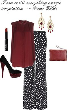 I don't usually pin outfits, but I love these pants!  Must find...