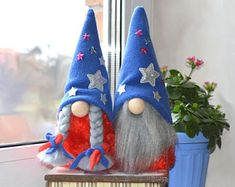 Patriot American gnome, Independence Day of july, Patriotic Gnomes, Memorial Day, Patriotic star Girl Gnome, Kitchen Ornaments, Scandinavian Gnomes, Flag Colors, July Crafts, Coffee Gifts, Patriotic Decorations, Cappuccino Coffee, Coffee Coffee