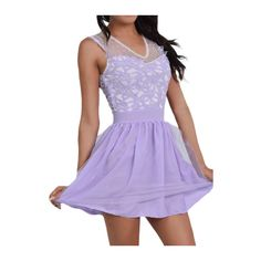Rotita Cheap Homecoming Dresses Lavender Short Prom Dresses Cocktail... ($23) ❤ liked on Polyvore featuring dresses and purple