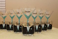 Set of 12 Bridal Party Martini & Scotch Glasses by ArtsyAsh101, $168.00