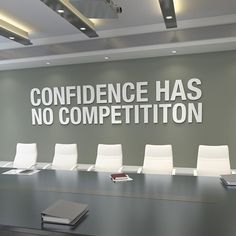 This Confidence Office Wall Art Office Art Office Decor is just one of the custom, handmade pieces you'll find in our signs shops. Office Wall Design, Office Wall Decals, Office Walls, Office Interior Design, Office Interiors, Office Decor, Office Wall Colors, Office Artwork, Office Ideas