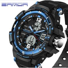 This is a perfect military men's digital electronic dual time sport watch. The excellent ABS Plastic case and stainless steel case back which enable the watch to be tough and durable. Japan original i