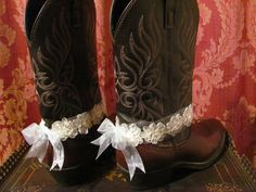Boot Bracelets/  Cowgirl Wedding /  Western Wear Accessories/ / Anklets/ Boot Sweets / Lace Cuffs