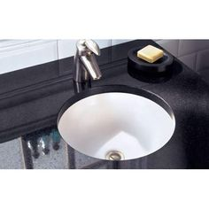 "Model 0630.000: Orbit White Undercounter Sink Bowl Sizes -12 3/4"" diameter -4 3/8"" deep $150"