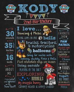 Hey, I found this really awesome Etsy listing at https://www.etsy.com/listing/198055576/paw-patrol-chalkboard-birthday-sign-for