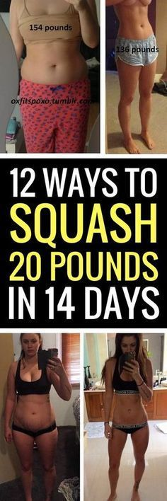 12 best ways to shed 20 pounds in 14 days.