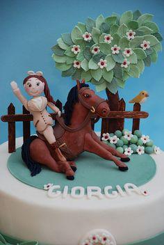 torta Giorgia cavallerizza  -              cake horse by Alessandra Cake Designer, via Flickr