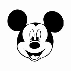 Disney Pumpkin Carving Templates - Mickey Mouse and more! Mickey Mouse Stencil, Mickey Mouse Template, Arte Do Mickey Mouse, Mickey Mouse Silhouette, Mickey Mouse Outline, Silhouette Cameo Disney, Disney Pumpkin Carving, Pumpkin Carving Templates, Pumpkin Template