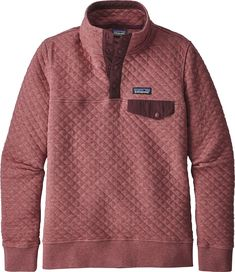 Patagonia Organic Cotton Quilt Snap-T Pullover Sweatshirt - Women's Patagonia Quilted Pullover, Patagonia Outfit, Patagonia Sweater, Cotton Quilts, Outdoor Outfit, Outdoor Wear, Organic Cotton, My Style, Outfits