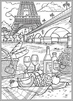 Coloring Book Art, Coloring Pages To Print, Coloring Sheets, Coloring Pages For Kids, House Colouring Pages, Coloring Pages For Adults, Coloring Pages Nature, Beach Coloring Pages, Kids Colouring
