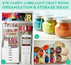 Loads of awesome craft room storage/organization ideas!
