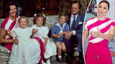 Kronprinsessan Victoria talade i veckan på FN:s havskonferens i New York. På sig hade hon Silvias gamla rosa- och vitrandiga klänning från 1984. #Kungligt #Återbruk #Klädvård