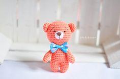 Trudy the Bear, Crochet Teddy Bear, Stuffed Teddy Bear, Stuffed Animal Bear, Amigurumi Bear by EMERENstore on Etsy