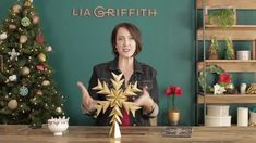 This is a 6 minute and paper crafting tutorial video demonstrating how to make a Star Tree Topper with Lia Griffith. Learn how to make a Star Tree. Star Tree Topper, Christmas Tree Toppers, Christmas Diy, Fabric Crafts, Paper Crafts, Joann Fabrics, Diy Weihnachten, Craft Tutorials, Craft Stores