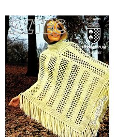 "Vintage 70's Crochet ""PONCHO"" - PDF Pattern - Instant Download"
