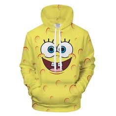 2018 Cute Series Sponge Toy Hoodie Printed Boy Girl Sport Style Hoodie Sweatshirt Couple Cute BOB Hoodies Men Plus Size Hoody Cartoon Outfits, Hoodie Sweatshirts, Sweat Cool, Spongebob Cartoon, Spongebob Memes, Yellow Hoodie, 3d Prints, Cool Hoodies, Spongebob Squarepants