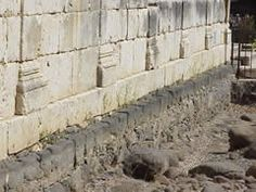 Foundations of first century synagogue in Capernaum.