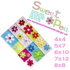 Allison andSweet Pea Machine Embroidery Designs now has two new quilts and a baby bear pillow as well as a newblock of the week.