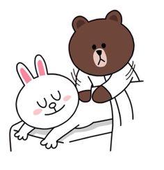 cony massage by brown line Cute Couple Cartoon, Cute Love Cartoons, Cony Brown, Brown Bear, Cute Bear Drawings, Bear Gif, Naughty Emoji, Cute Love Gif, Bunny And Bear