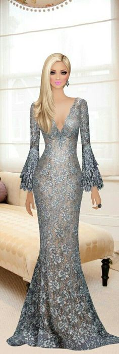 Not So Black and White Lace Dress Styles, Lovely Dresses, Couture Dresses, Bridal Dresses, Prom Dresses, Maxi Outfits, Fashion Outfits, Covet Fashion, Girl Fashion