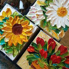 Updates from IronsideImpastos on Etsy Mini Canvas Art, Small Canvas, Oil Painting Flowers, Texture Painting, Palette Knife Painting, Fashion Painting, Acrylic Art, Painting Inspiration, Flower Art
