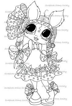 INSTANT DOWNLOAD  Digital Digi Stamps Big Eye Big Head Dolls Digi   Besties Sweet IMG63555   By Sherri Baldy