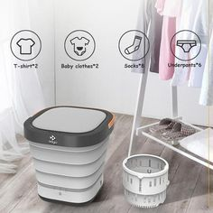 Mini Washing Machine, Portable Washing Machine, Deep Cleaning, Cleaning Hacks, Heavy Clothing, Laundry Tubs, Laundry Rooms, Electricity Consumption, Basin Design