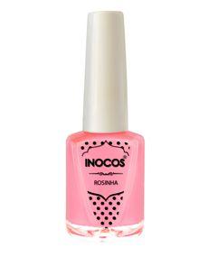 Verniz de Luxo - Verniz Inocos A Pipoca Mais Doce Inhos Pastel e Txarans Fluorescentes - Rosinha 9ml