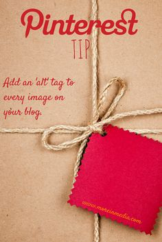 The one Pinterest Tip every blogger needs. Add an ALT tag to every image on your blog.