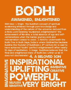 BODHI Personalized Name Print / Typography Print / by OhBabyNames