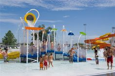 Cool off and splash around at the Crystal Beach Aquatics Center in Woodward, Oklahoma. It has multiple water slides, a play area for the kids and a pool with lap lanes.