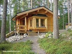 Resultado de imagen de cabañas pequeñas de madera y piedra