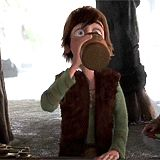 The look of horror on Hiccup's face when he heard that he's been shipped with Elsa and Anna. My reaction definitely! lol O_O
