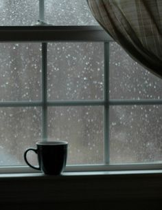 Ahh, a warm cup of tea on a cold, rainy day. One of life's simple pleasures. Digital Foto, I Love Rain, Dancing In The Rain, Rain Drops, Simple Pleasures, Rainy Days, Rainy Night, Rainy Mood, Rainy Morning