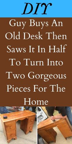 Some people see old furniture as nothing more than junk. Others envision it as having a tremendous amount of potential. That's what happened when one guy found an old desk. #OldDesk #Gorgeous #Pieces Old Desks, Life Rules, Detox Drinks, Face Care, Fitness Goals, Holiday Parties, Bald Eagle, Health Tips, Entertaining