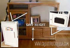 How to Make a DIY Play Kitchen Part 1: Selection and Prep of a Great Entertainment Center ~ Creative Green Living