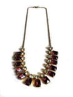 1940s Amethyst Necklace Wedding Necklace by FribblePistol on Etsy